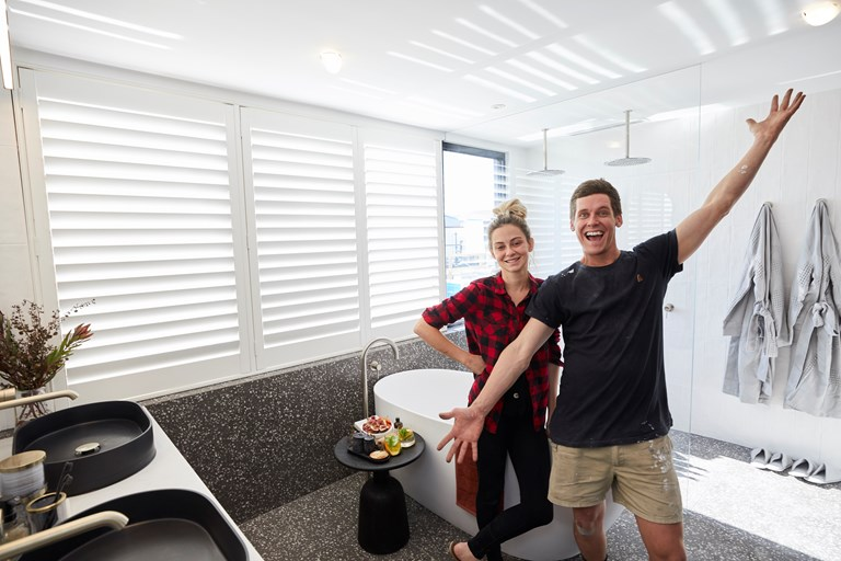 Tess & Luke's Ensuite Reveal Evokes Sense of 'Lusciousness and Finesse'